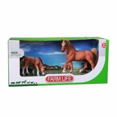 Plastic arabier paard met veulen