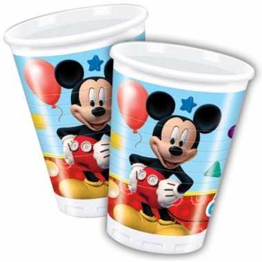 Plastic bekertjes mickey mouse 200 ml
