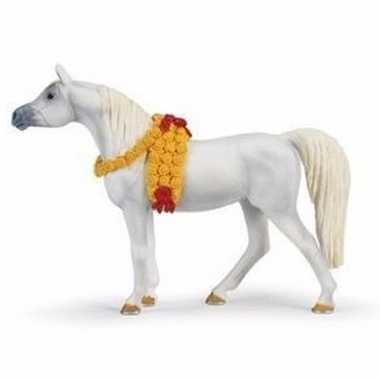 Plastic dieren arabische volbloed paardje 14 cm