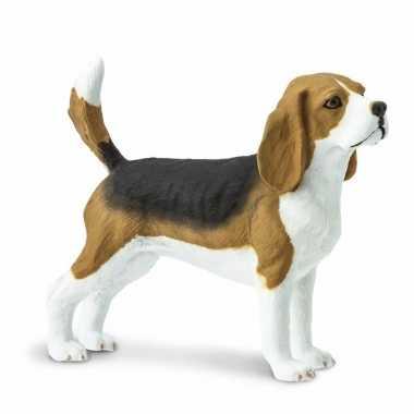 Plastic dieren beagle hondje 6 cm