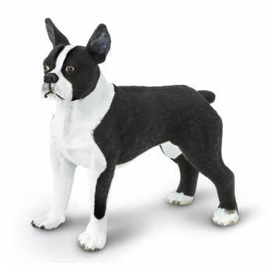 Plastic dieren bostonterrier hondje 5 cm