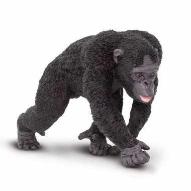 Plastic dieren chimpansee aapje 10 cm