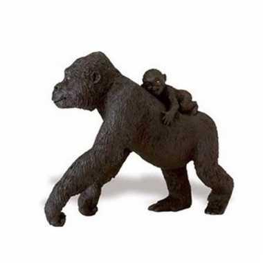 Plastic dieren gorillaatje 11 cm