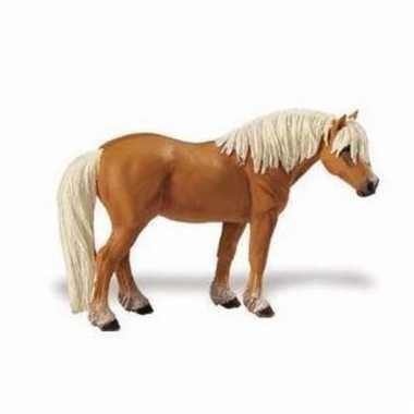 Plastic dieren haflinger paardje 11 cm