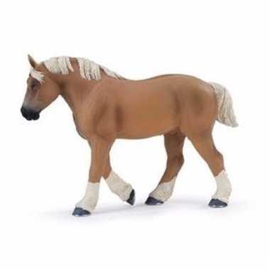 Plastic dieren paardje brabants/belgisch trekpaard 13 cm