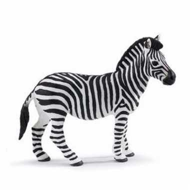 Plastic dieren zebraatje 11 cm