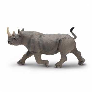 Plastic dieren zwarte neushoorn 14 cm