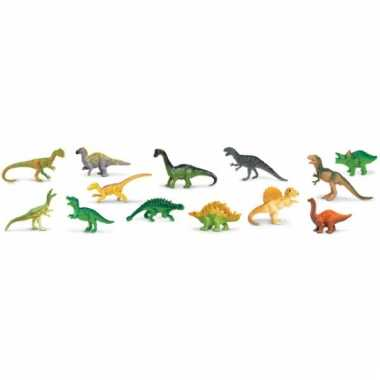 Plastic dinosaurussen speelset
