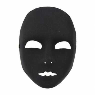 Plastic gezichtsmasker zwart