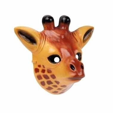 Plastic giraffe masker 3d van 22cm