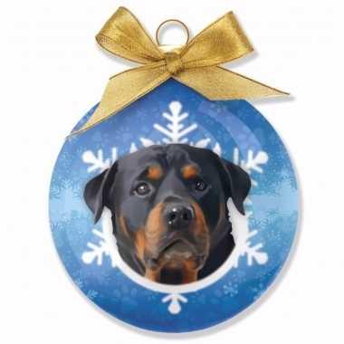 Plastic kerstbal rottweiler honden