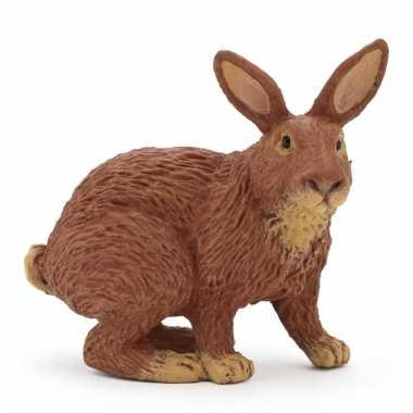Plastic papo dier konijn bruin