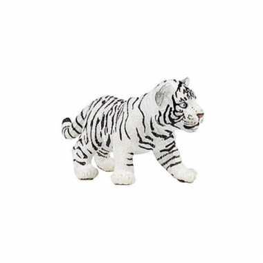 Plastic papo dier witte tijger welpje