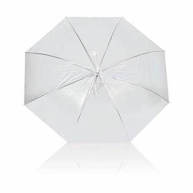 Plastic paraplu transparant