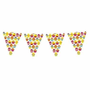 Plastic slinger in cupcake thema