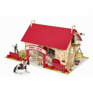 Plastic speelgoed boerderij
