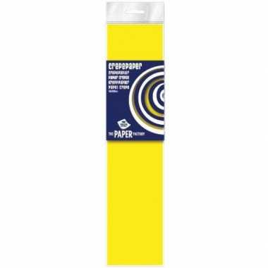 Plat crepepapier in het neon geel