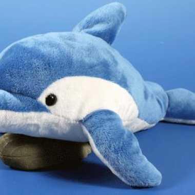 Pluche blauwe dolfijn knuffel 33 cm