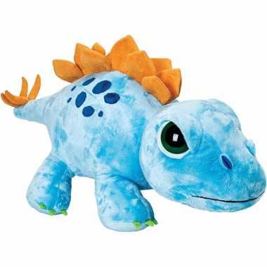 Pluche blauwe jumbo stegosaurus knuffels 65 cm