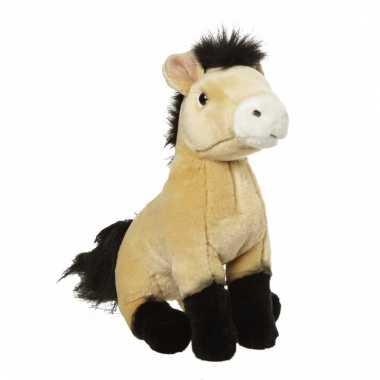 Pluche bruine paarden knuffel 27 cm