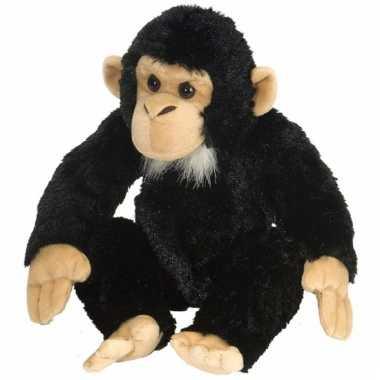 Pluche chimpansee knuffels 30 cm