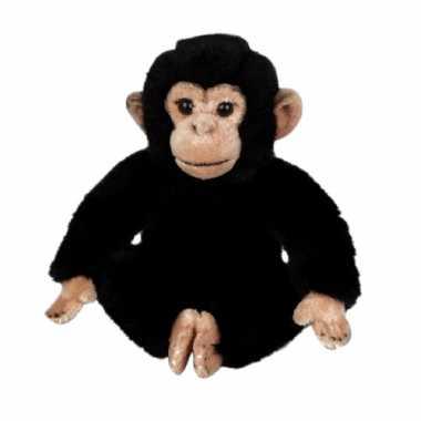 Pluche chimpansees knuffel 25 cm
