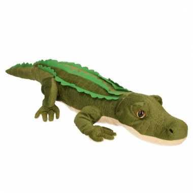 Pluche groene knuffel krokodil