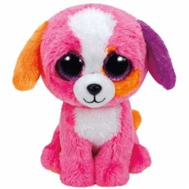 Pluche hond/puppy knuffels precious ty beanie 24 cm
