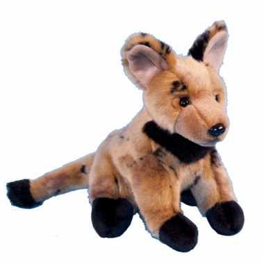 Pluche jaaghond hyena 21 cm