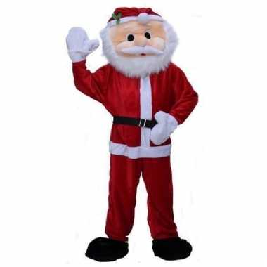 Pluche kerstman verkleedkleding
