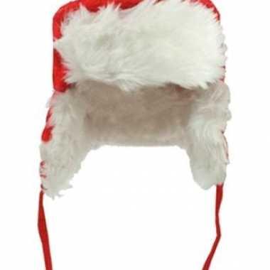 Pluche kinder bontmutsen voor de kerst