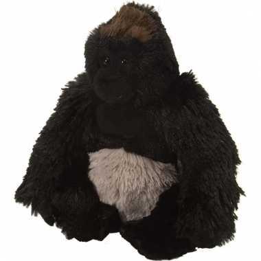 Pluche knuffeltje gorilla zwart 20 cm