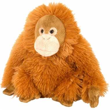Pluche knuffeltje orang oetan oranje vrouwtje 20 cm