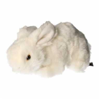 Pluche konijn knuffeldier wit 20 cm