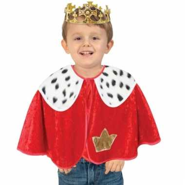 Pluche koning poncho voor peuters