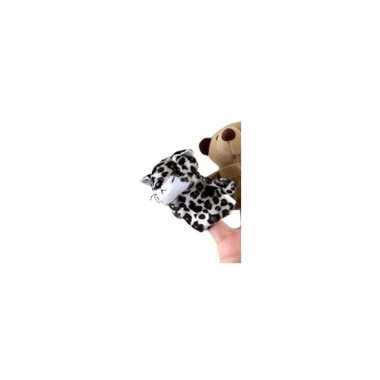 Pluche luipaard vingerpoppen