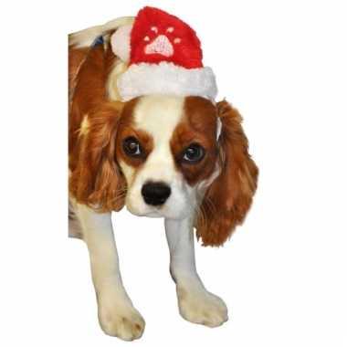 Pluche mini kerstmuts voor huisdieren