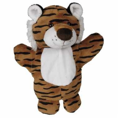 Pluche tijger handpopje 27 cm