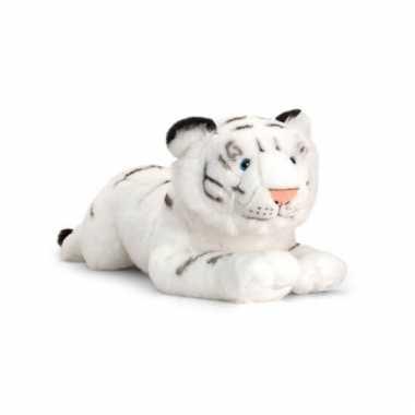 Pluche witte tijger liggend 46cm