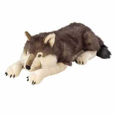 Pluche wolven knuffel groot 76 cm