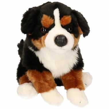 Pluche zittende berner senner knuffel hond 30cm
