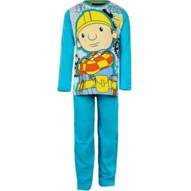 Pyjama bob de bouwer aqua blauw