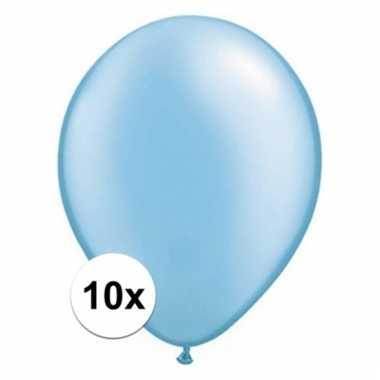 Qualatex azure blauwe ballonnen 10 stuks