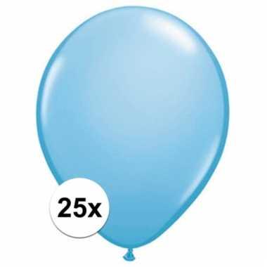 Qualatex baby blauwe ballonnen 25 stuks
