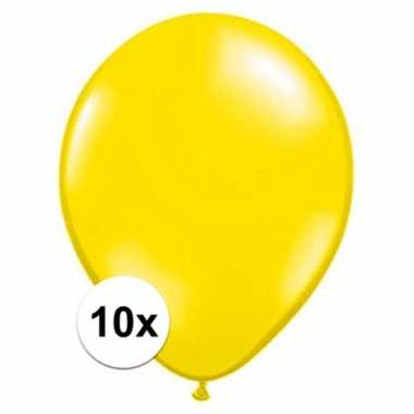 Qualatex citroen gele ballonnen 10 stuks