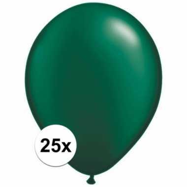 Qualatex donkergroene ballonnen 25 stuks