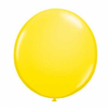 Qualatex gele ballon 90 cm