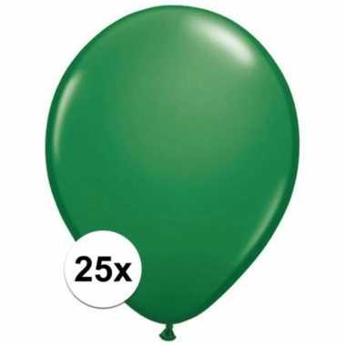 Qualatex groene ballonnen 25 stuks