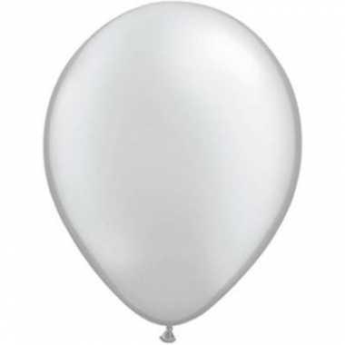 Qualatex metallic zilver ballonnen