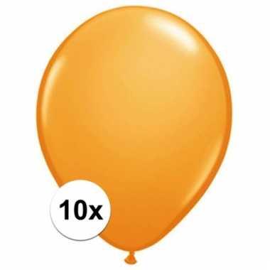 Qualatex oranje ballonnen 10 stuks